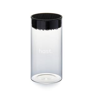 《オプション/ガラスナイフブロック》包丁を7本まで飾るように収納できて、丸ごと洗える「ナイフスタンド」|hast.