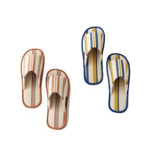 指先サラサラ、何度も洗える、高島帆布の夏用スリッパ|LOOM&SPOOL