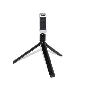 """""""この瞬間""""を感じたい、でもスマホにも残したい 《三脚セット》68gの超小型で撮影が安定!自撮り棒、スマホスタンド、シャッターリモコンにもなる「スマートフォン用多機能カメラグリップ+専用三脚」 ShutterGrip™ 2 シルバー"""