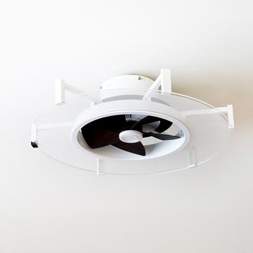 """快適! 天井から""""空気""""と""""光""""のエール 《6~10畳用》仕事もリラックス時間も快適にする、薄型ファン付き照明「パネライト」  JAVALO ELF"""
