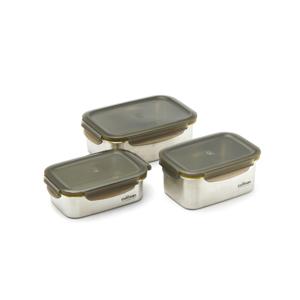 電子レンジ・オーブン・冷凍・食洗機OK、調理もできるステンレス保存容器(大中小3点セット)|cuitisan