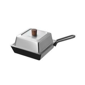 《オプション/深型鉄フライパン》家でもアウトドアでも!アヒージョもハンバーグもおいしくできる「コンパクトディープパン」|テーブルトップグリル