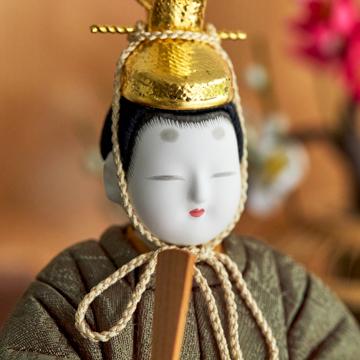 毎年のしあわせを願う「リビング雛人形」|MONOCO限定デザイン《六角形/大》7つの日本伝統工芸をコンパクトモダンにした、江戸木目込の「プレミアム親王飾り」※第一期受注分|柿沼人形|宝想雛・結