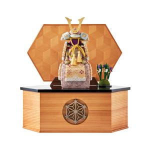 MONOCO限定デザイン《六角形/大》6つの日本伝統工芸をコンパクトモダンにした、江戸木目込の「プレミアム鎧飾り」※第一期受注分|柿沼人形|宝輝