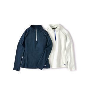 《レディース》真冬のランニングや春秋のアウトドアレジャーに!伸縮性バツグン、ムレない、寒さを感じさせない「クオータージップ」|OROS|Quarter Zip