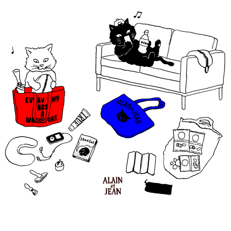 旅する猫「アランとジャン」
