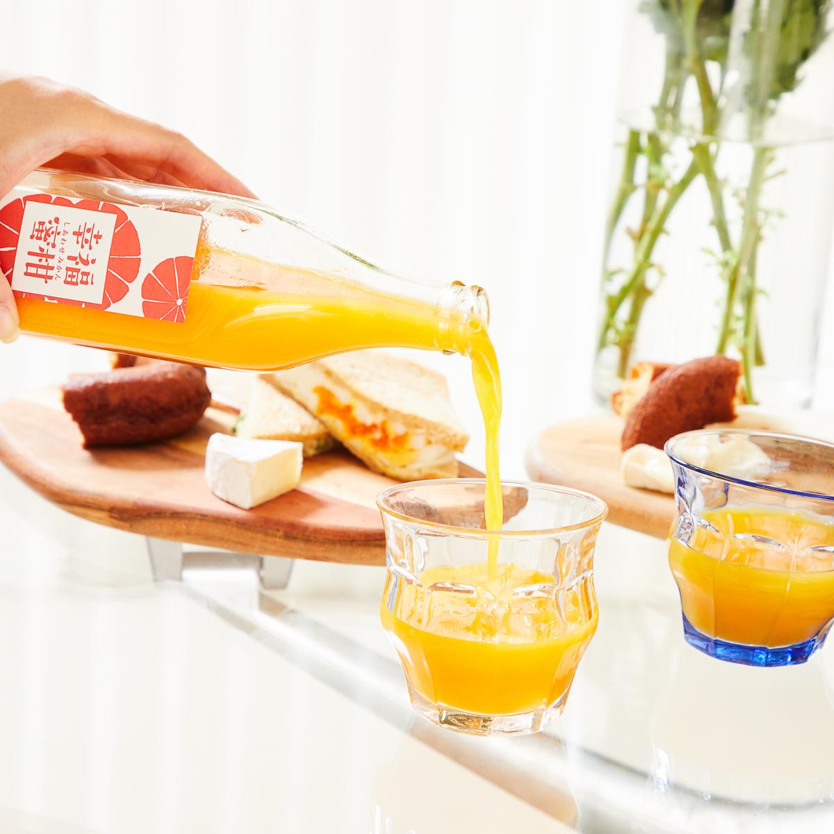 一口ひとくち味わいたくなる、みかんジュース|手間ひまかけた分だけ、おいしい味になってくれる