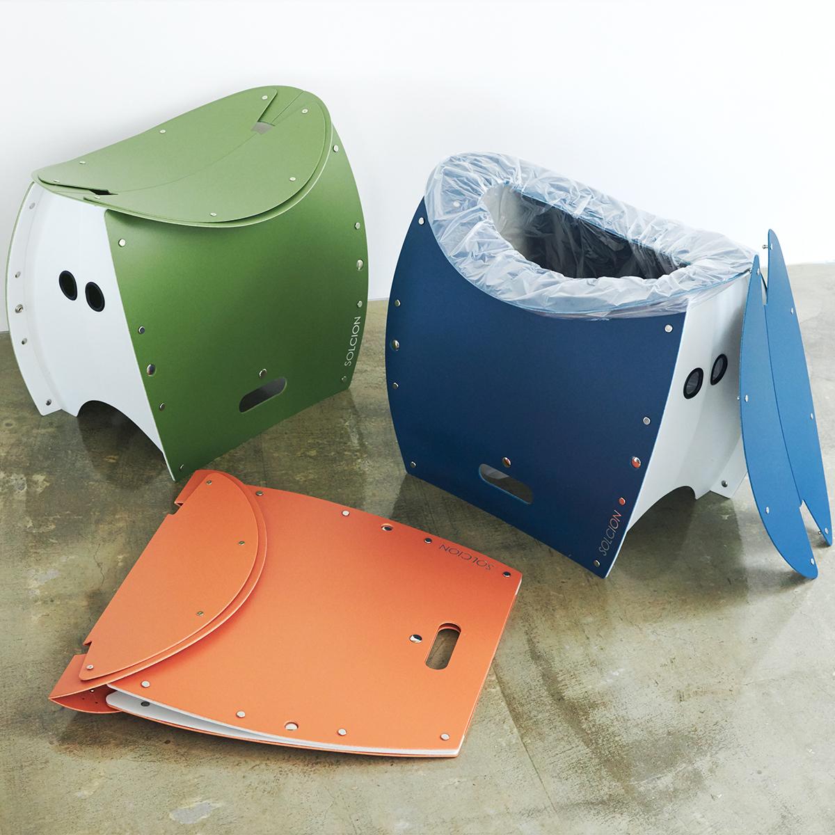 まだ進化するの!? 薄さ4cmのどこでもイス | 座面を外せば、ゴミ箱・防災トイレが出現