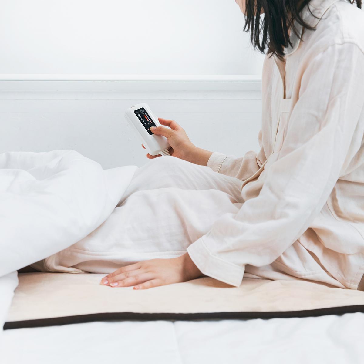 """寒い朝の""""幸せな寝起き""""について考えた電気毛布   あなたの睡眠サイクルに合わせて電源が自動オンオフ"""