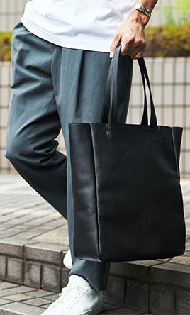 """心の""""ゆとり""""を、バッグの中に 防水レザー、超軽量、直感ポケットでストレスフリー"""