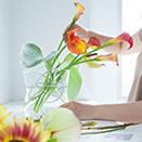 """花に""""自由""""なバランスを 1本から飾れる花留めボール入り"""